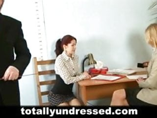 Sex shock Shocking nude job interview for redhead babe