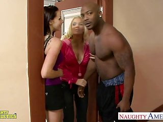 Gianna monster fucked video Athlete gianna michaels gets fucked in threesome