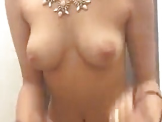 Tablet pc touch strips Beauty strip tease tits touch herself