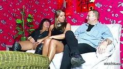 Old German Couple Seduce Big Tit Teen to Fuck in Threesome