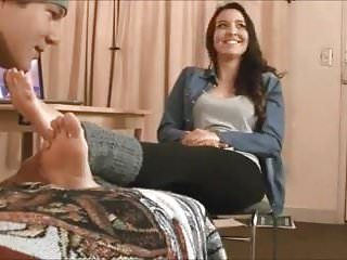 Motel fetish Worshiping feet in motel room