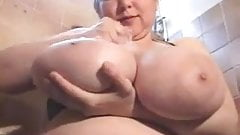 BBW plays with her huge breast