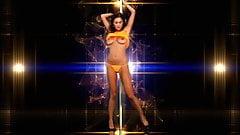 The World Is Not Enough - big tits pole dance striptease