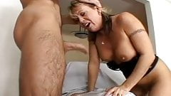 Old whore sucks dick and swallows cum