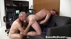 Old manager barebacking the handsome office newbie