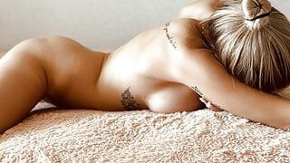Erotic massage and sex to orgasm for a beautiful blonde