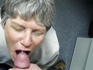 Cum eater self sucker Granny cum eater