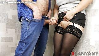4K. HANDJOB TO A STRANGER ENDED IN UNSAFE SEX - XSANYANY