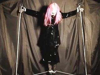 Free captive bondage Angry goth captive
