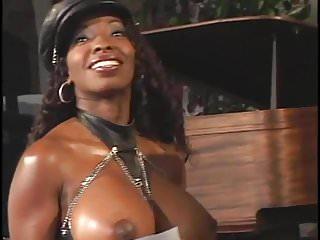 White ebony lesbians movies 2 ebony godesses dominate a white sub