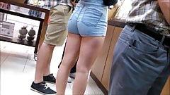 Teen-Arsch in Shorts 11, versteckte Kamera