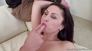 Lovely Wife Swinging With Other Man With Her Husband