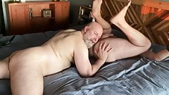 Two Hairy Daddy Bears enjoying each other's fur
