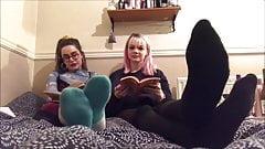 2 girls socks humiliation