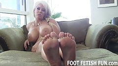 Let me show off my sexy feet for you while you jerk off