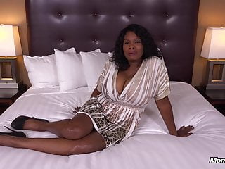 Milf ebony tits Curvy ebony milf has all natural big black tits hd fuck film