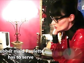 Maids in latex Rubber maid paulette has to serve lady cheyenne de muriel