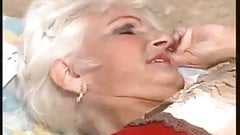 Granny Marianne gets outdoor fuck