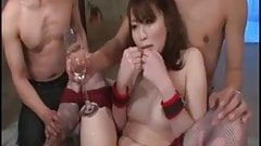 Uncensored Japanese in fishnets stockings squirting jizz