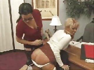Lesbians on chair Ff spanking on chair