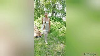Lukerya in nature in underwear