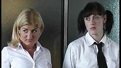 Three Schoolgirls punished