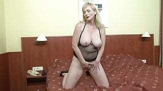 Hot Mature MILF Mom Rides a Big Fat Black Cock BBC Anal