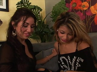 Lick her twat - Sexy latina gets her moist twat licked by a smoking hot blonde