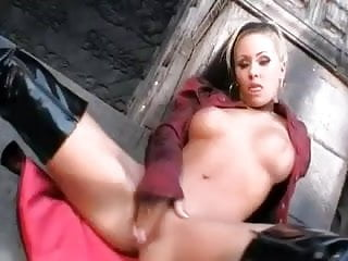 Bdsm boots Lesbian strapon dp boots threesome