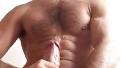 Bearded hung stud shows how to jerk with both hands: HJ-CUM