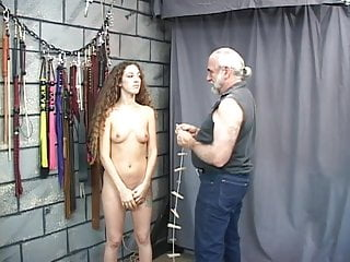 Cute young nude video clips - Cute young brunette slave girl has clips and clamps applied to her little tits
