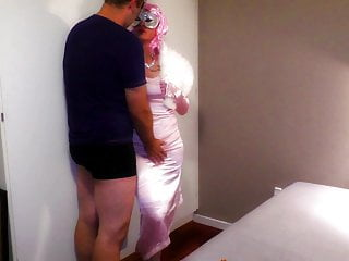String bikini vedio - Pink string bikini satin panties vid teser