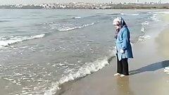 turkish hijab nylon feet