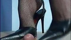 Cock and Ball Torture Fishnet & Pumps