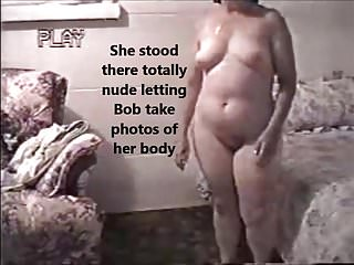 Photographing the female nude Stood nude letting him photograph her