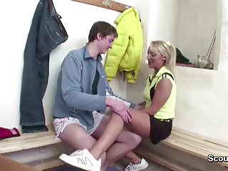 Hairy teacher young boy - Hot milf teacher seduce young boy to fuck after sport lesson