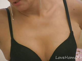 Mature panty desires - Desirable milf in pantyhose pleasures herself passionately