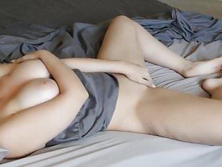 Teen nipple voyeur Hot girl masturbates on bed