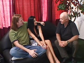 Group stud fucking Young stud licks and fucks sexy sluts pussy while her husband watches