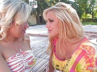 Pornstar aubrey pics Shyla stylez shares a big cock with aubrey addams