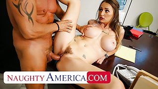 Naughty America - Big tits boss Natasha Starr fucks