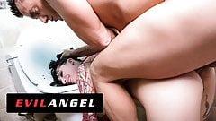 EVILANGEL Goth Charlotte's Ass & Face Devoured Down a Toilet