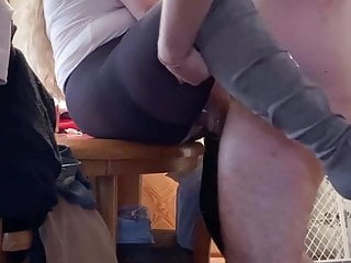 Online gentlemens club for pantyhose Fucking wife after going to the club.
