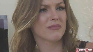 Redhead shemale Shiri Allwood licks and fucks a girls pussy