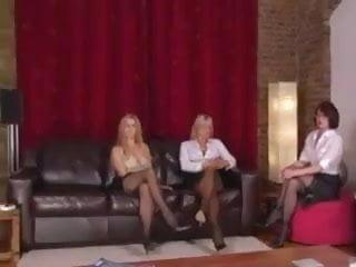 Sissy maid femdom Three femdom ladies treat their sissy maid