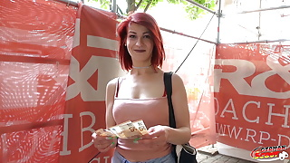 GERMAN SCOUT - Redhead College Teen Jenny Fuck at Casting
