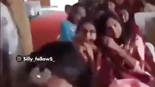 Young Indian lady giving blowjob