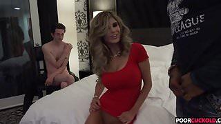 Poor Cuckold Watching Chloe Chaos Fucking A HuGE BLack Cock