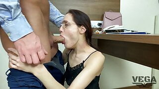 DIRECTOR FUCKED WICKED TEACHER AND CAME ON GLASSES 02