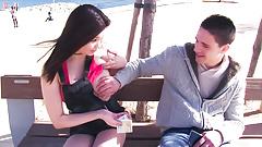 LETSDOEIT - Asian Pornstar Babe Seduces Stranger In Public